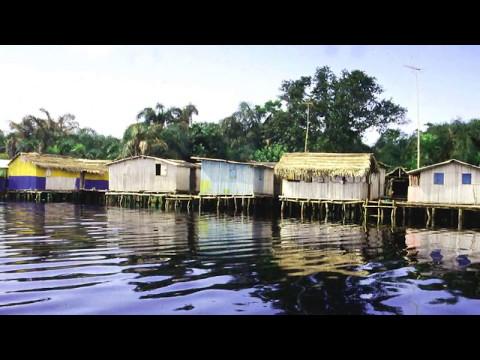 Nzulezo in Ghana,  village on stilts ,Amansuri wetland ,canoes,