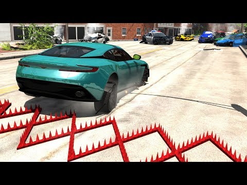 Spike Strip Multi-Vehicle Pileup Crashes...