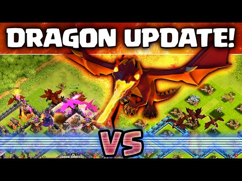 Clash of Clans - Pre Update All Dragon Raid tests LIVE!