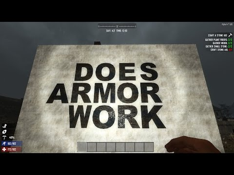 Does Armor Work ? (7 Days to Die: Alpha 14.7) - GSBS