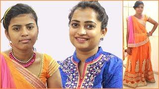 Pooja Ka Navratri Makeup | Househelper Makeover for Dandiya Garba Night | Indian Mom On Duty