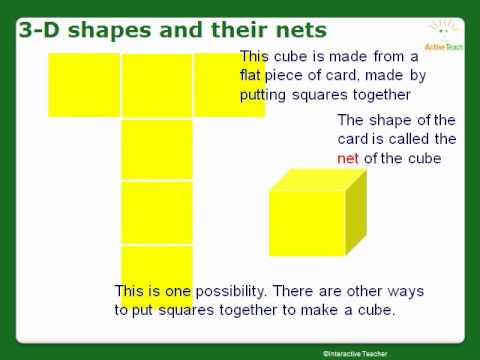 how to draw nets of 3d shapes