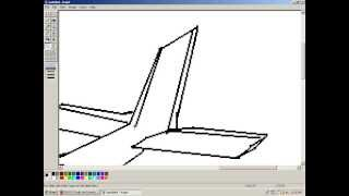 how to draw an Airplane MS paint!!!!!!