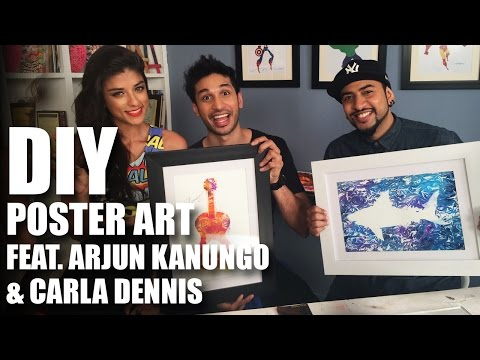 How To Do DIY Poster Art Feat. Arjun Kanungo & Carla Dennis | Mad Stuff With Rob