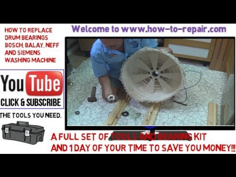 How to replace washing machine bearings on Bosch, Neff, Siemens and some Balay.