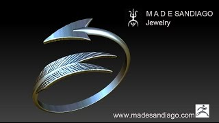Silver Arrow Ring with ZBrush