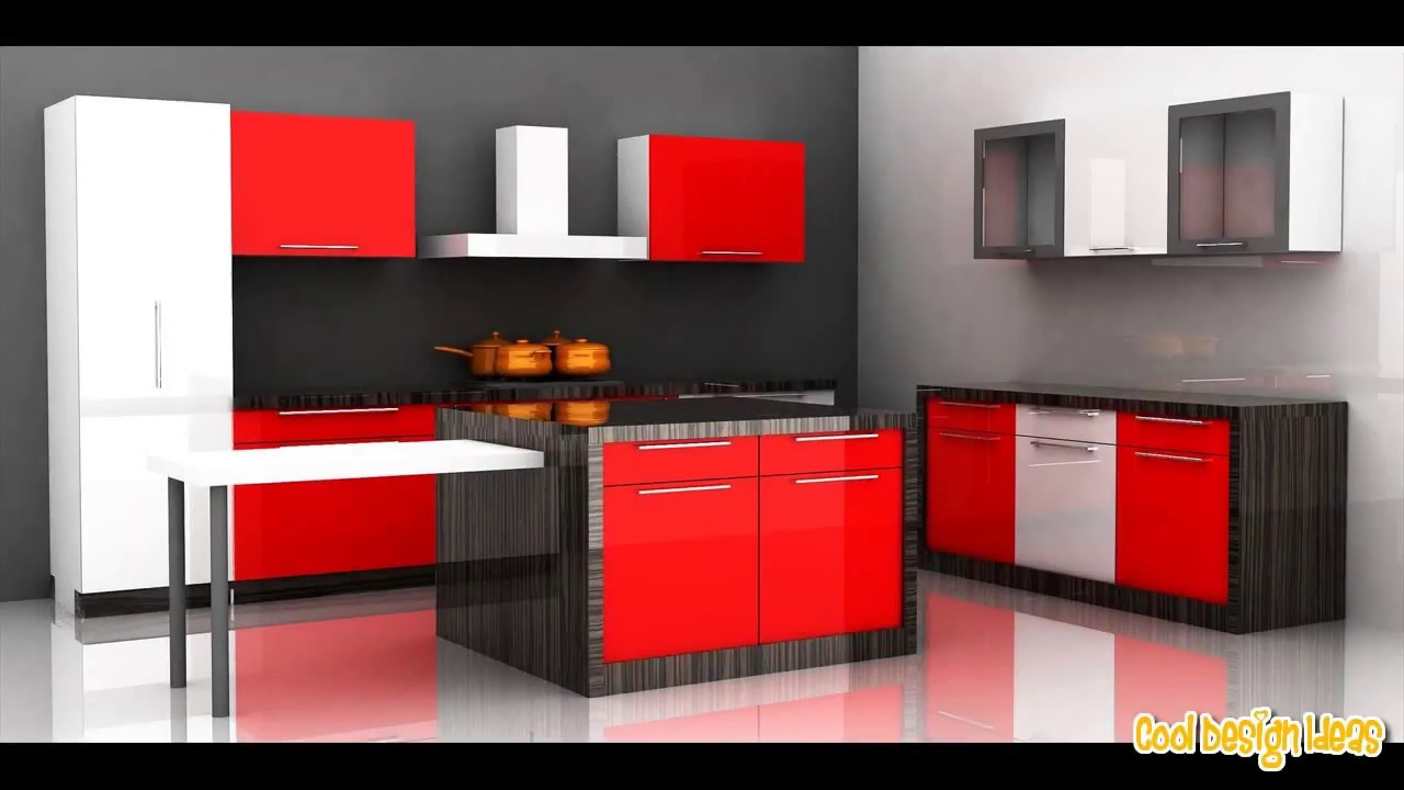 Rustic Red Kitchen Cabinets