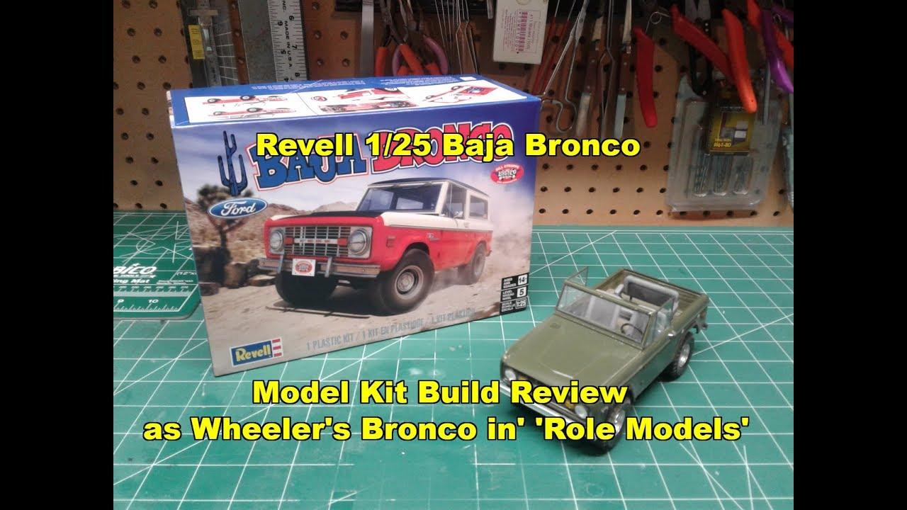 Revell 1 25 baja bronco model kit build review 85 4436 as the bronco