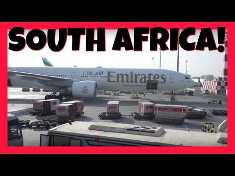 FLYING EMIRATES PART TWO: DUBAI TO JOHANNESBURG, SOUTH AFRICA!