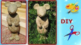 Как сделать мышку из папье маше часть 1. Садовые скульптуры. Символ 2020