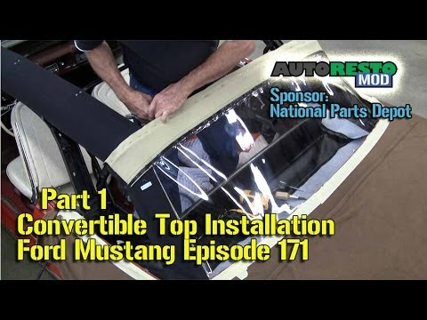 wiring diagram for alternator 1986 yamaha g1 golf cart part 1 convertible top installation classic car ford mustang episode 171 autorestomod - youtube