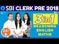 SBI CLERK PRE 2018 | 3 In 1( Maths - Percentage Part - 3) DAY- 5 | Online Coaching For SBI