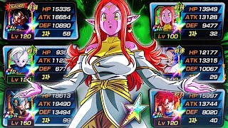 TOP TIER DBZ DOKKAN BATTLE TI%* | TEQ Supreme Kai Of Time Showcase