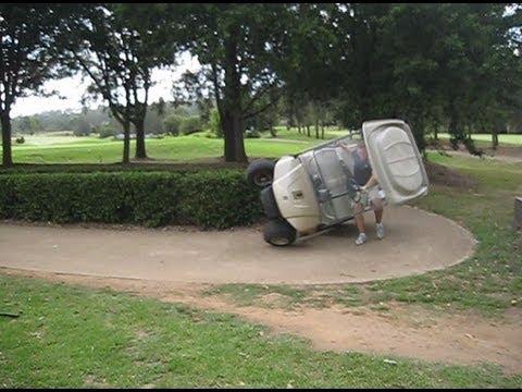 Golf Cart Rollover NASCARt