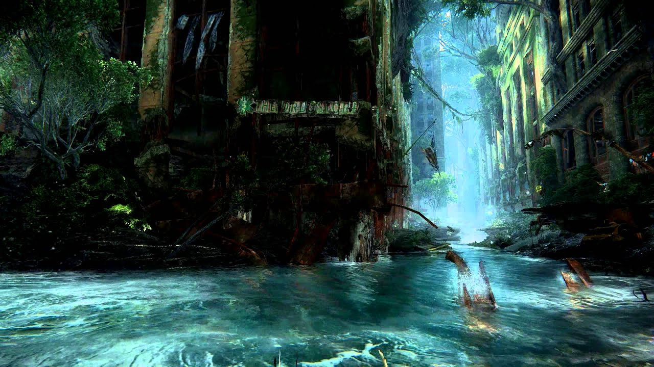 crysis 3 running water 2 video desktop wallpaper - youtube