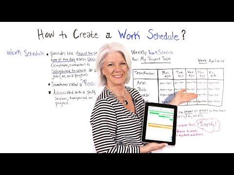How To Create Work Schedule