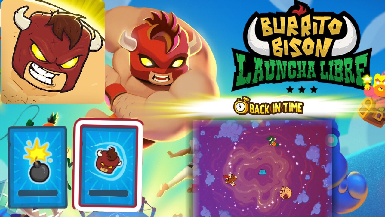 BACK IN TIME ! Burrito Bison Launcha Libre - First Time Travel + How to Unlock the New ...