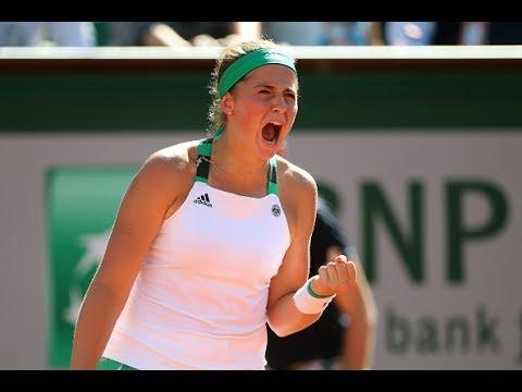 2017 Roland Garros Semifinals | Jelena Ostapenko vs Timea Bacsinszky | Highlights