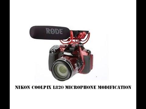 nikon coolpix l820 external microphone modification youtube