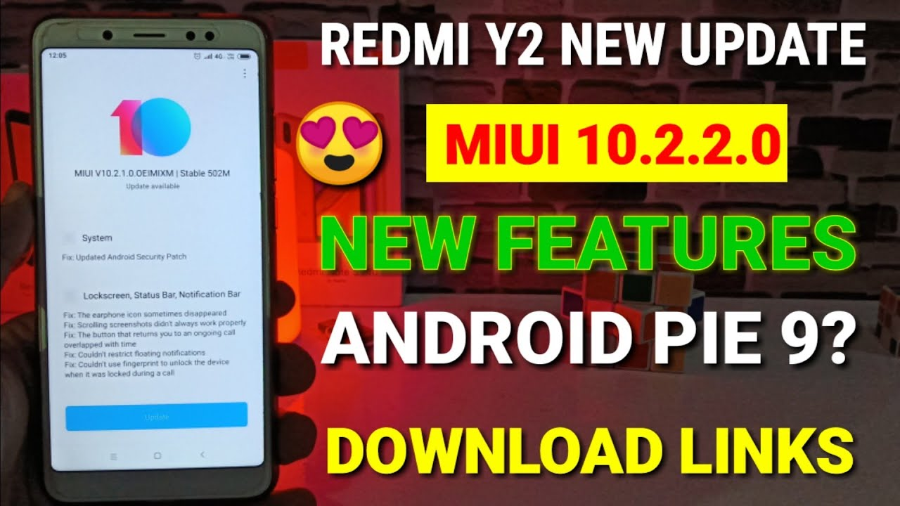 Redmi Y2 Miui 10 2 2 0 new stable update | Android Pie 9? | Miui 10 2 2 0  for Redmi Y2