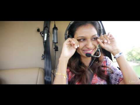 Indian doctor surprises his GF in a helicopter!!!