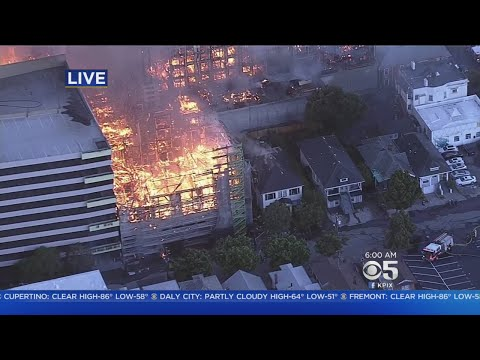 Oakland Fire:  4-alarm fire destroys massive Oakland construction project