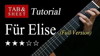Für Elise (Full Version) - Guitar Lesson + TAB