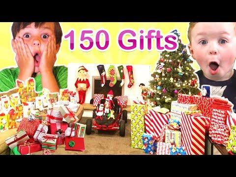 🎄150+ Gifts! Opening Christmas Presents Christmas Morning 2016🎄DavidsTV
