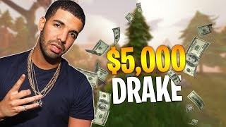 DRAKE DONATES $5,000 TO NINJA LIVE - Fortnite Battle Royale WTF & Funny Moments Episode. 136