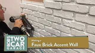 Faux Brick Accent Wall Youtube