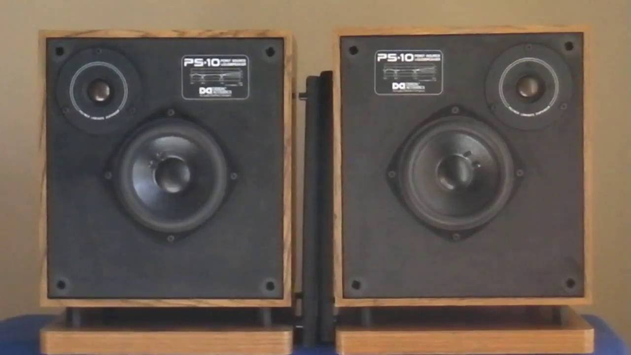 design acoustics ps-10 point source speakers ________sn-ps10a75847