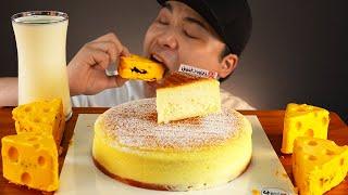 부드러운 치즈케이크와 우유 먹방~!! 리얼사운드 ASMR social eating Mukbang(Eating Show)