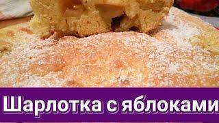 Шарлотка с яблоками в духовке (простой и вкусный рецепт)
