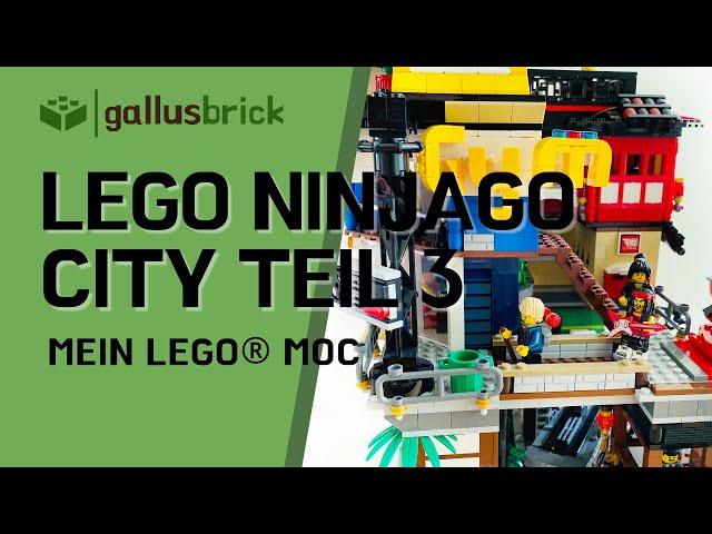 LEGO Ninjago City MOC | Modular Teil 3 Deutsch | GYM, Sternwarte und Sumo Dojo