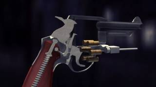 How a Revolver Works | Revolver Mechanism, Technical animation by DasHnezz