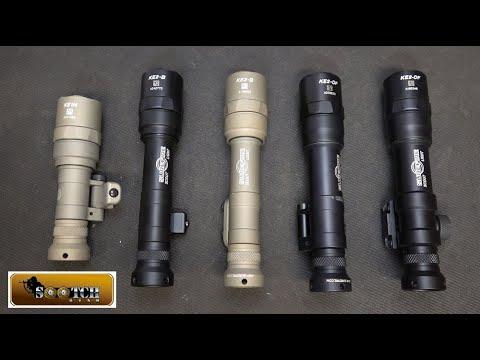 Surefire Scout Pro Weapon Light Comparison