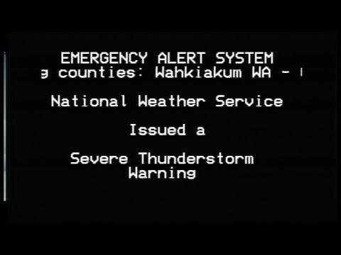 Severe Thunderstorm Warning- TWC + EAS- Astoria, OR- Oct