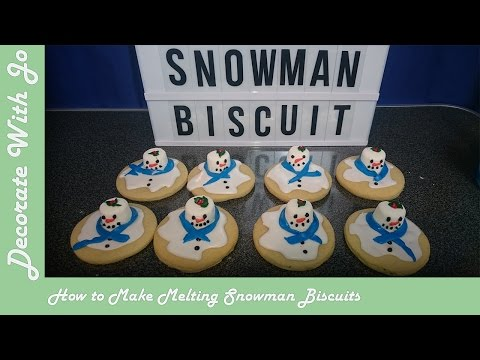 How To Make Melting Snowman Biscuits