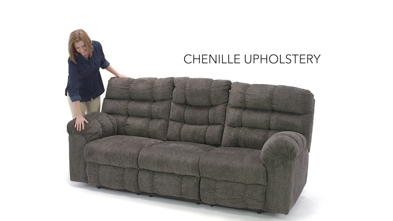 Ashley Homestore Acieona Reclining Sofa With Drop Down Table Youtube