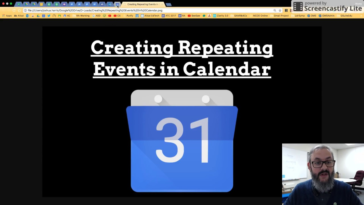 Creating Repeating Events In Google Calendar