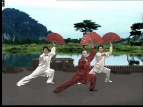 tai chi kungfu fan dance youtube. Black Bedroom Furniture Sets. Home Design Ideas