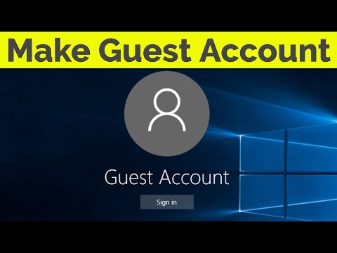 How To Create A Guest Account On Windows 10 Pc-2019 - YouTube