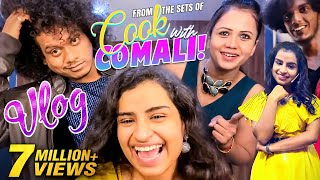 From The Sets Of Cook With Comali! - Fun Vlog Ft. Sivaangi 😂 🤣| Tamil Vlogs | Pugazh | Vijay TV