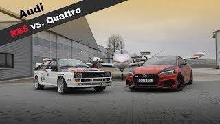 Audi Ur-Quattro trifft auf den Audi RS5 2018