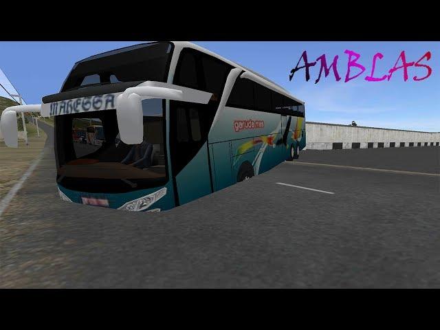 BUSSID V2 Bus Garuda Mas Amblas Kejar Jam Tayang | Game Simulator Android