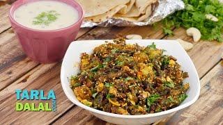 करेला और आलू की सब्जी (Karela Bateta Nu Shaak) by Tarla Dalal