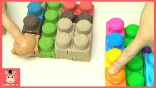 메가 블럭 키네틱 샌드 모래놀이 장난감 놀이 어린이 장난감놀이 ♡ Kinetic Sand Learn Colors Kids Toys | 말이야와아이들 MariAndKids