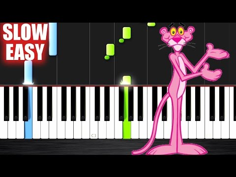 The Pink Panther Theme - SLOW EASY Piano Tutorial by PlutaX