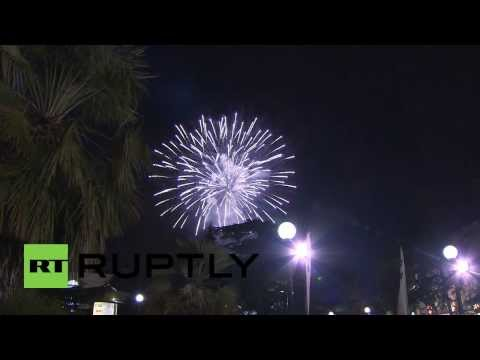 Russia: Fireworks light up Sochi sky