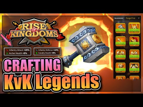 Crafting the best infantry weapon and helmet in Rise of Kingdoms [Conquest KvK Rewards]